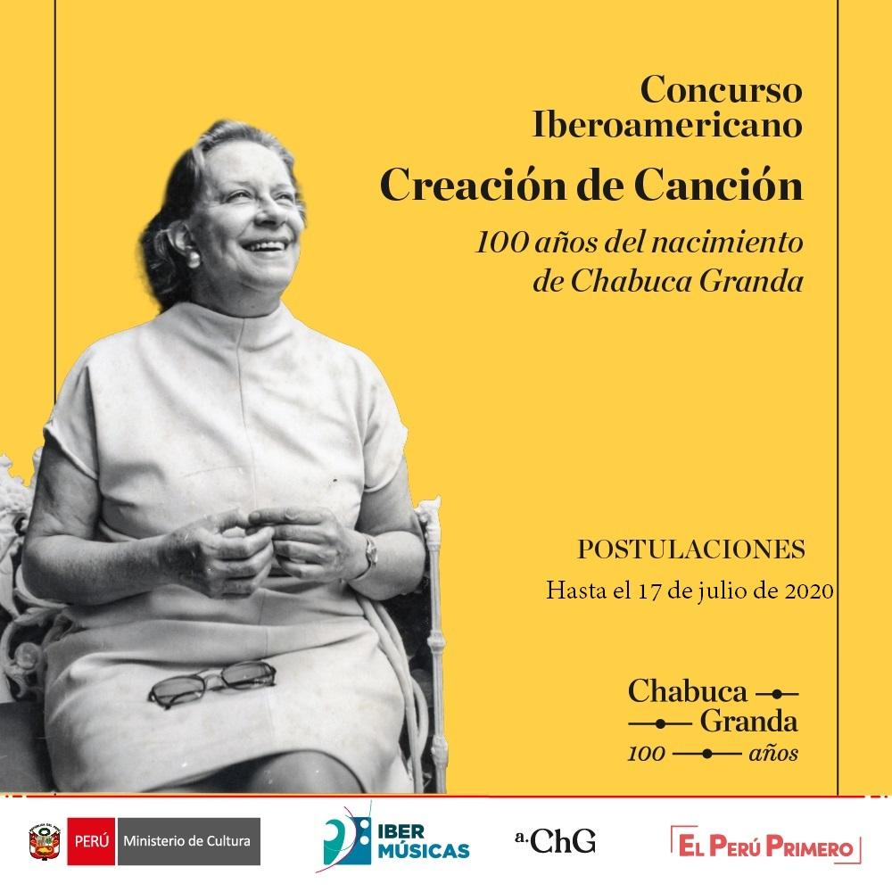 Se prorroga la fecha de cierre del Concurso de creación de canción en homenaje a Chabuca Granda